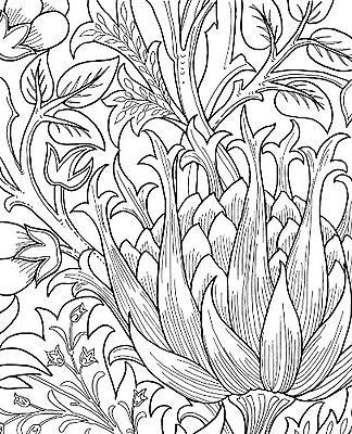 william morris coloring book by brooklyn museum of art paperback 48 pages new