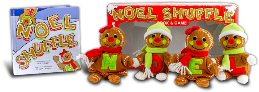 Noel Shuffle Gift Set - Four Plush Dolls & Illustrated Book