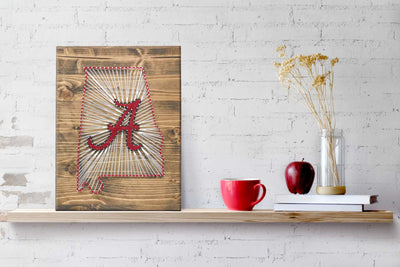 Alabama Crimson Tide String Art Kit