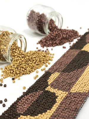 Brown Geometric Beading Kit