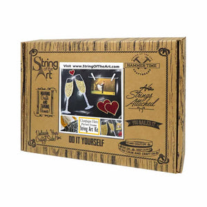 Wedding Champagne Picture Frame Kit - String of the Art
