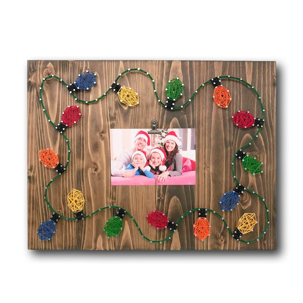 Christmas Lights Picture Frame String Art Kit