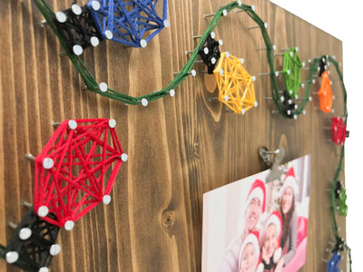 Christmas Lights Picture Frame String Art Kit - String of the Art