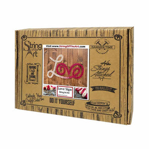 Red and White Love String Art Kit - String of the Art