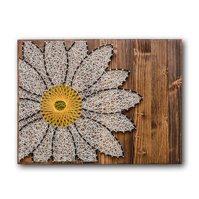 White Daisy String Art Kit