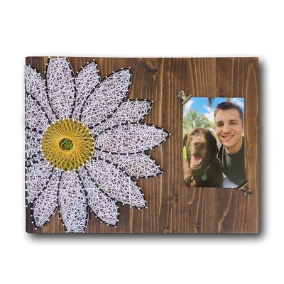 White Daisy Picture Frame String Art Kit