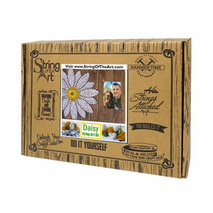 White Daisy Picture Frame String Art Kit - String of the Art