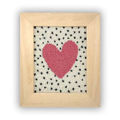 Pink Heart Punch Needle Kit