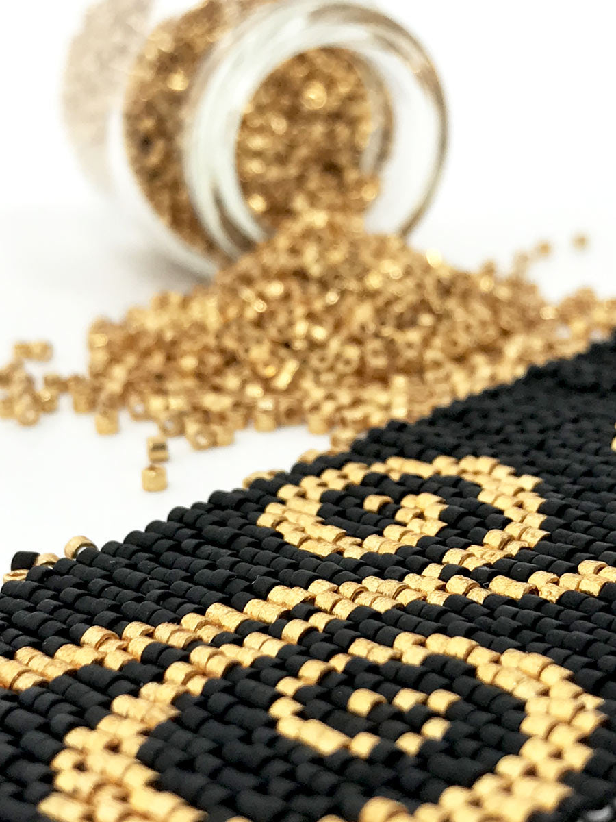 Gold Swirls Beading Kit