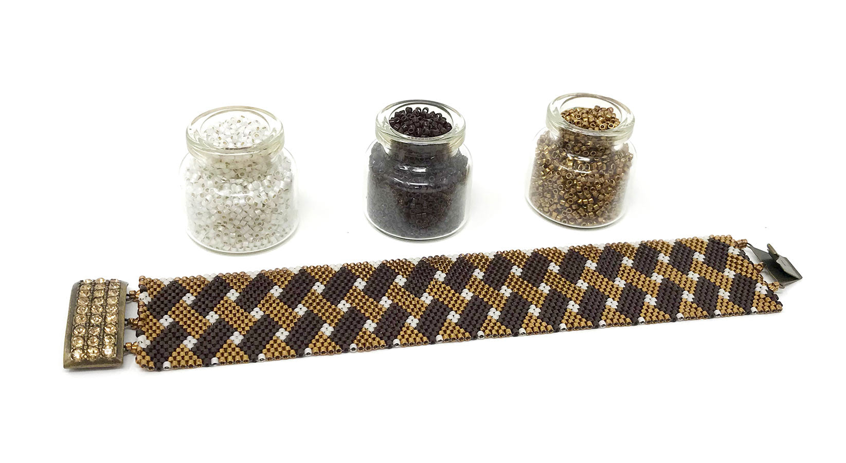 Brown Weave Beading Kit