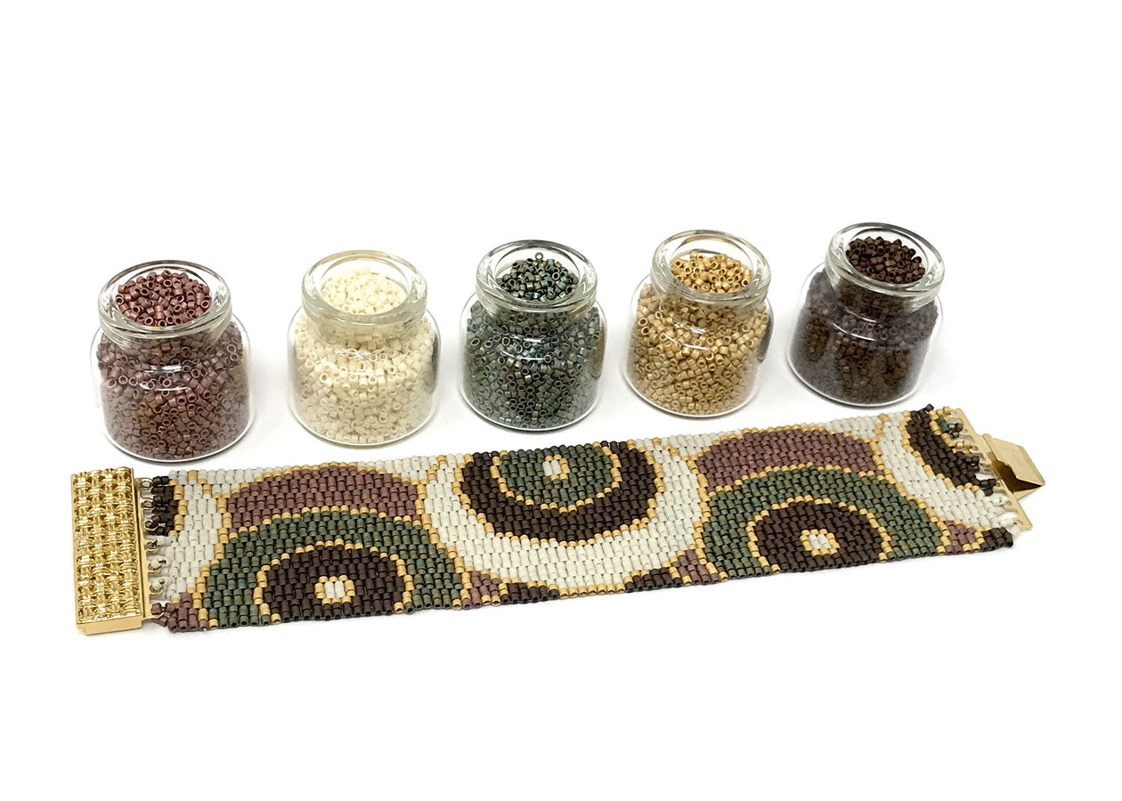 Earthy Circles Beading Kit