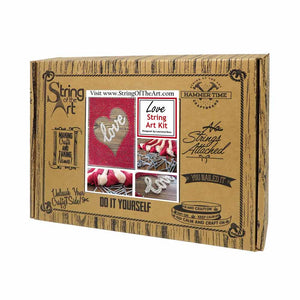 Inverted Red Heart Love String Art Kit - String of the Art