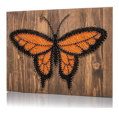 Orange Monarch Butterfly String Art Kit - String of the Art