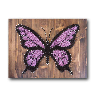 Purple Butterfly String Art Kit