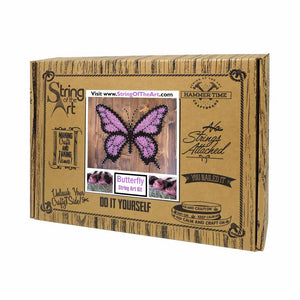 Purple Butterfly String Art Kit - String of the Art