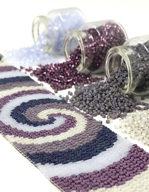 Purple Swirls Beading Kit