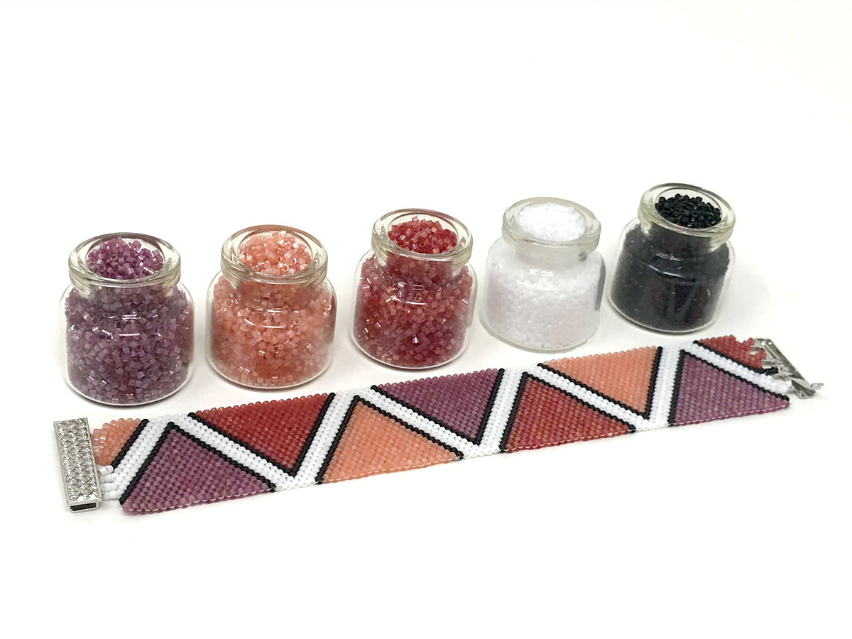 Colorful Triangles Beading Kit