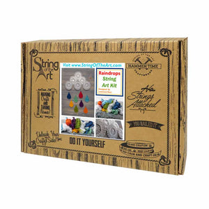 Colorful Raindrops String Art Kit