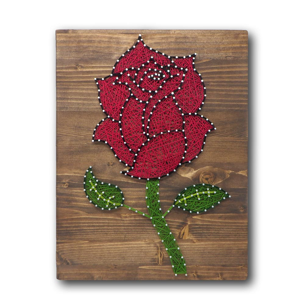 Red Rose String Art Kit
