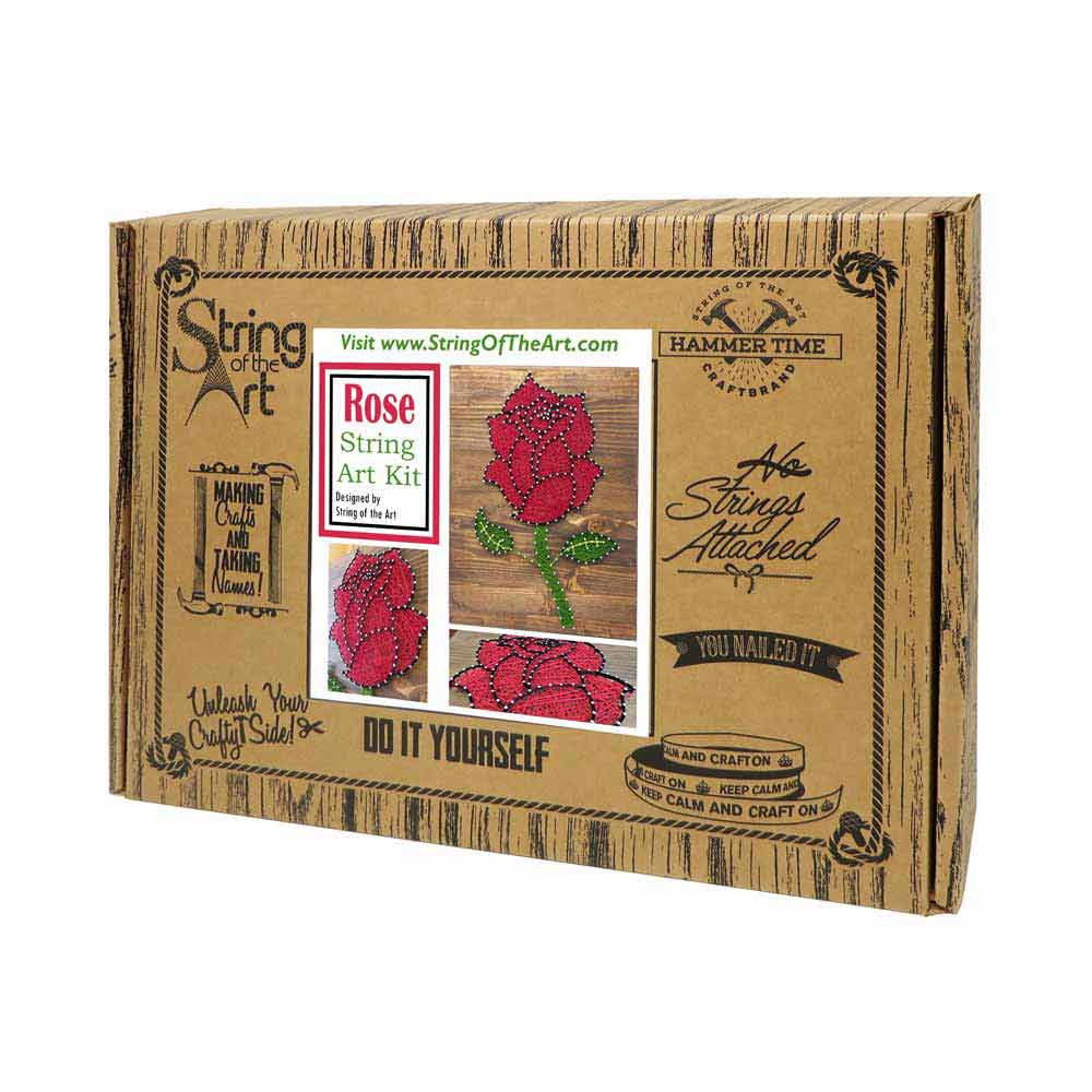 Red Rose String Art Kit - String of the Art