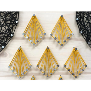 Black and Gold Owl String Art Kit