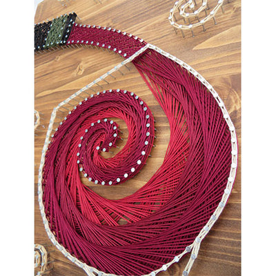 Stained Wood Pouring Wine String Art Kit - String of the Art