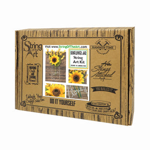 Sunflower Jar String Art Kit