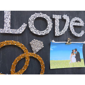 Wedding Rings Picture Frame Kit - String of the Art