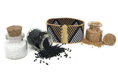 White & Gold Triangle Beading Kit