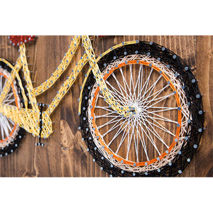 Yellow Bicycle String Art Kit - String of the Art