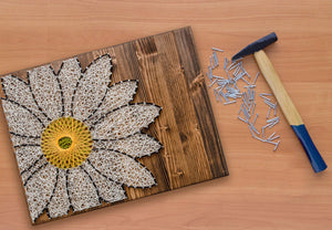 White Daisy - String Art Do-It-Yourself Kit