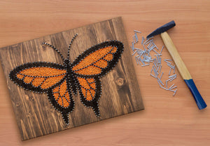 Orange Monarch Butterfly String Art Kit