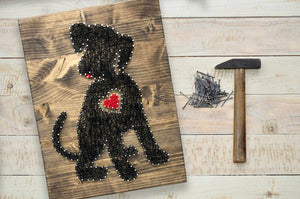 Puppy Heart String Art Kit