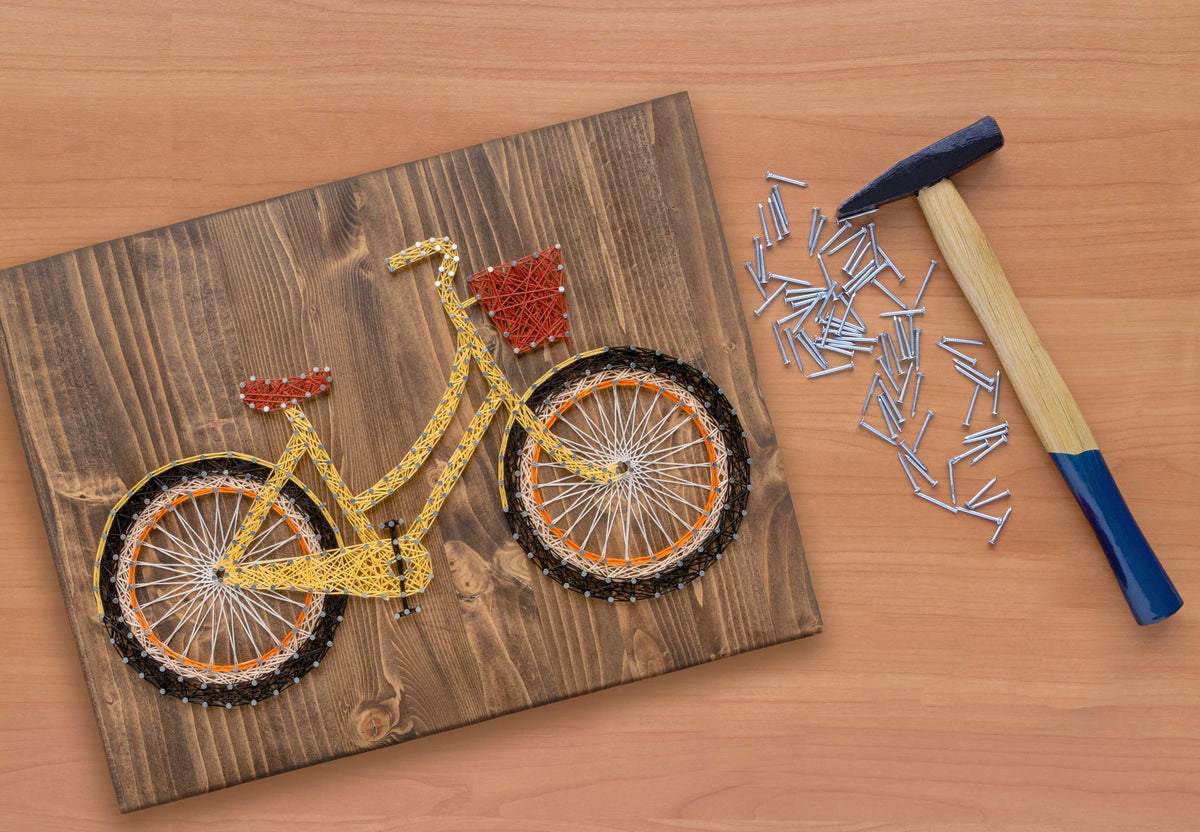Yellow Bicycle String Art Kit