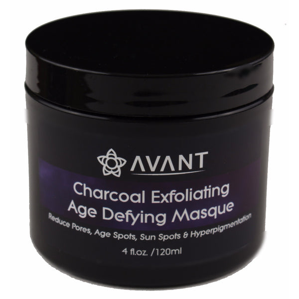 Avant Charcoal Exfoliating Age Defying Mask, Minimize pores, Acne treatment, spot brightening, age spots, sun spots, hyperpigmentation, clear congested pores, facial mask