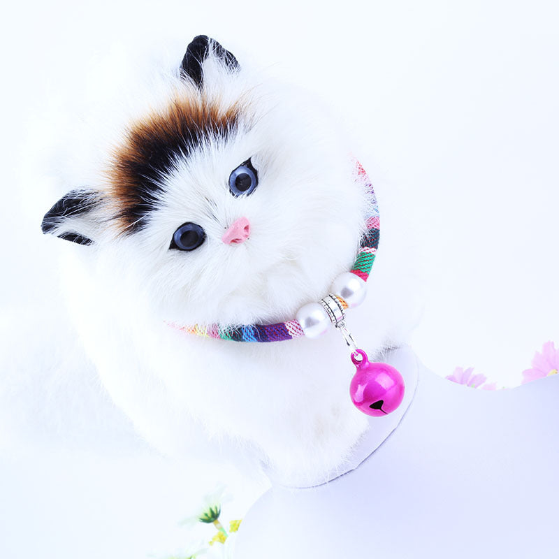 1 Piece Small Dogs Necklace with Bell Durable Comfortable Pet Dog Neck Decoration Cute Puppy Dog Supplies