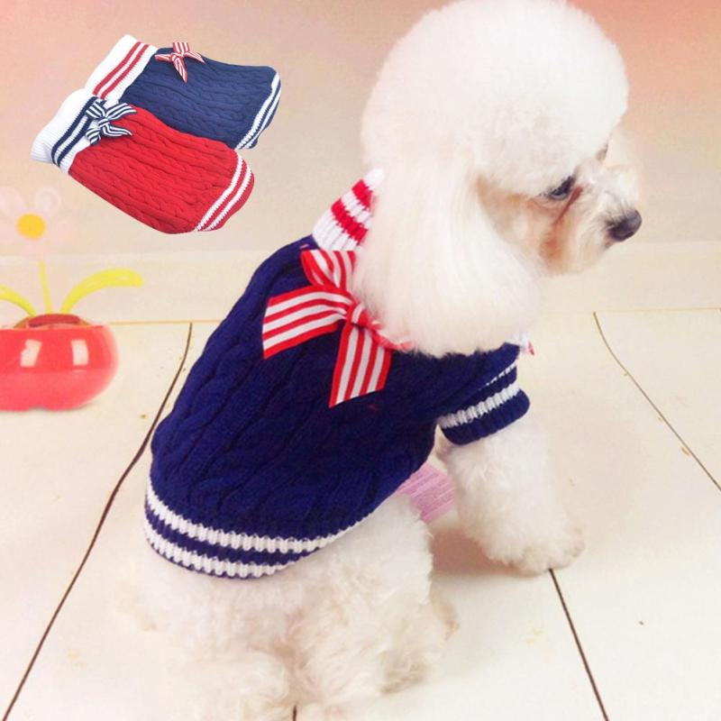 1 pc soft comfortable dog clothing navy Cute Pets Supplies Dog Sweater 2 Color spring winger Dog Clothes Sweater Clothing s2