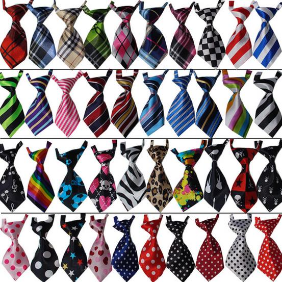 100PC/Lot Handmade Dog Ties Pet Dog Neckties Adjustable Dog Bow Ties Pet Supplies 40Colors