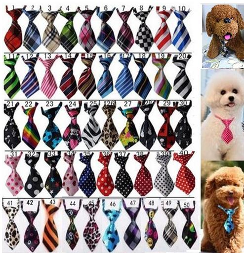 100pc/lot  Factory Sale New Colorful Handmade Adjustable Dog Ties Pet Bow Ties bandanas Cat Neckties  Dog Grooming Supplies L-1