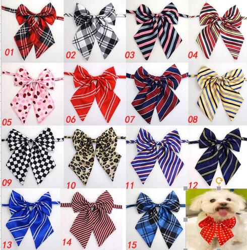 100pc/lot Hot sale Colorful Pet Dog puppy Tie Bow Ties Cat Neckties Dog Grooming Supplies for small middle big dog 4 model Y166