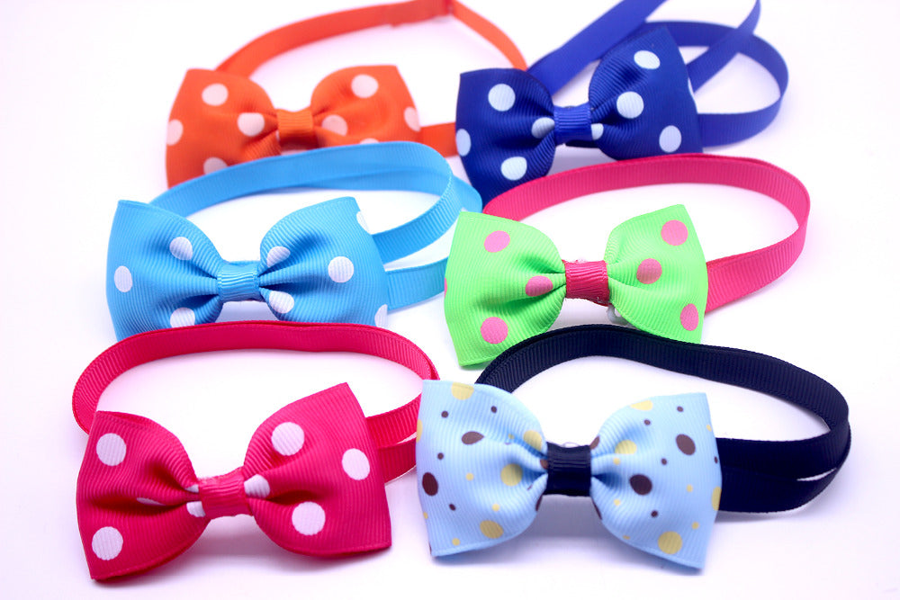 100pcs Mix Style Pet Dog Bow Ties Pet Necktie Popular Dog Bowtie Collar Pet Puppy Dog Ties Accessories Dog Grooming Supplies