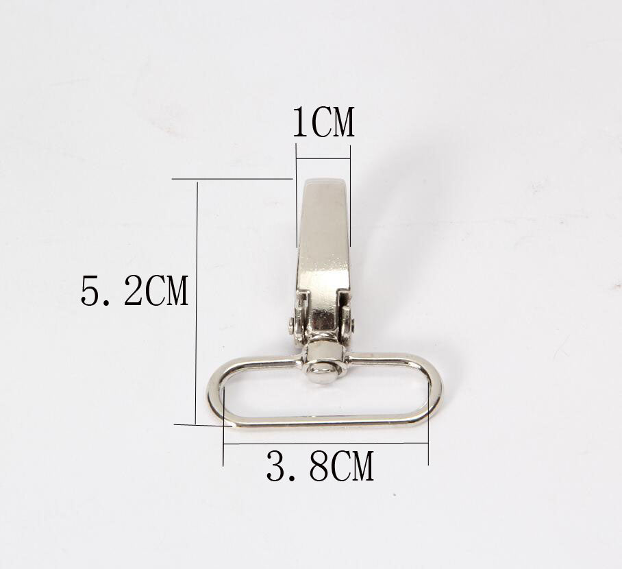 100pcs / lot 5X3.2 Metal Luggage bag Dog buckle Snap hook, Bag hanger Lobster Clasp DIY Sewing handmade Key chain buttons AU351