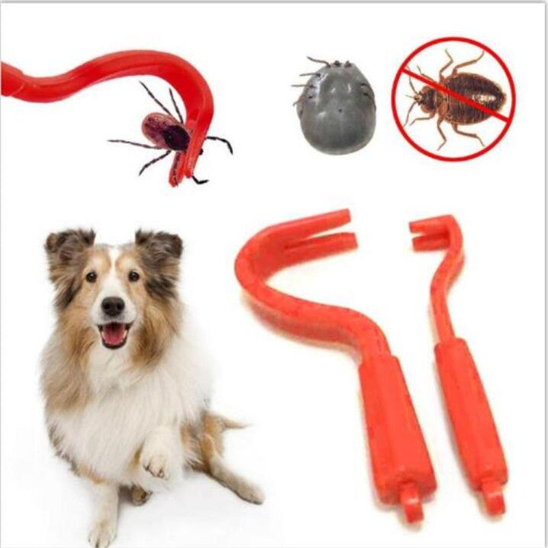 100set/lot Flea Hook  Plastic Portable Hook Cat Dog Pet Supplies Twister Remover Tool Flea Scratching Remover Hook Free Shipping