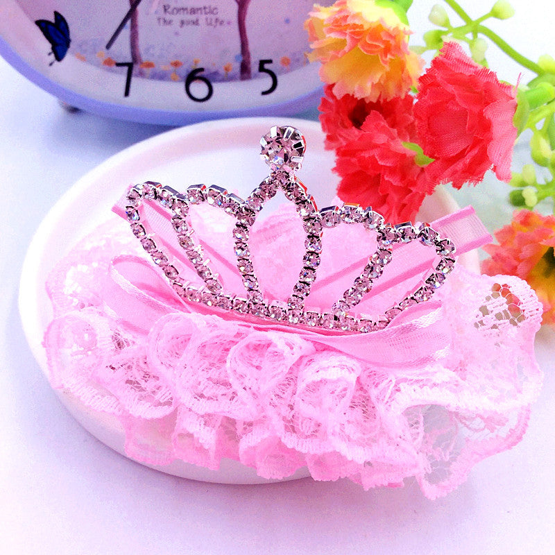 10pcs Korean Pet headdress crown high-grade dog lace accessories pet grooming wholesale pet supply.