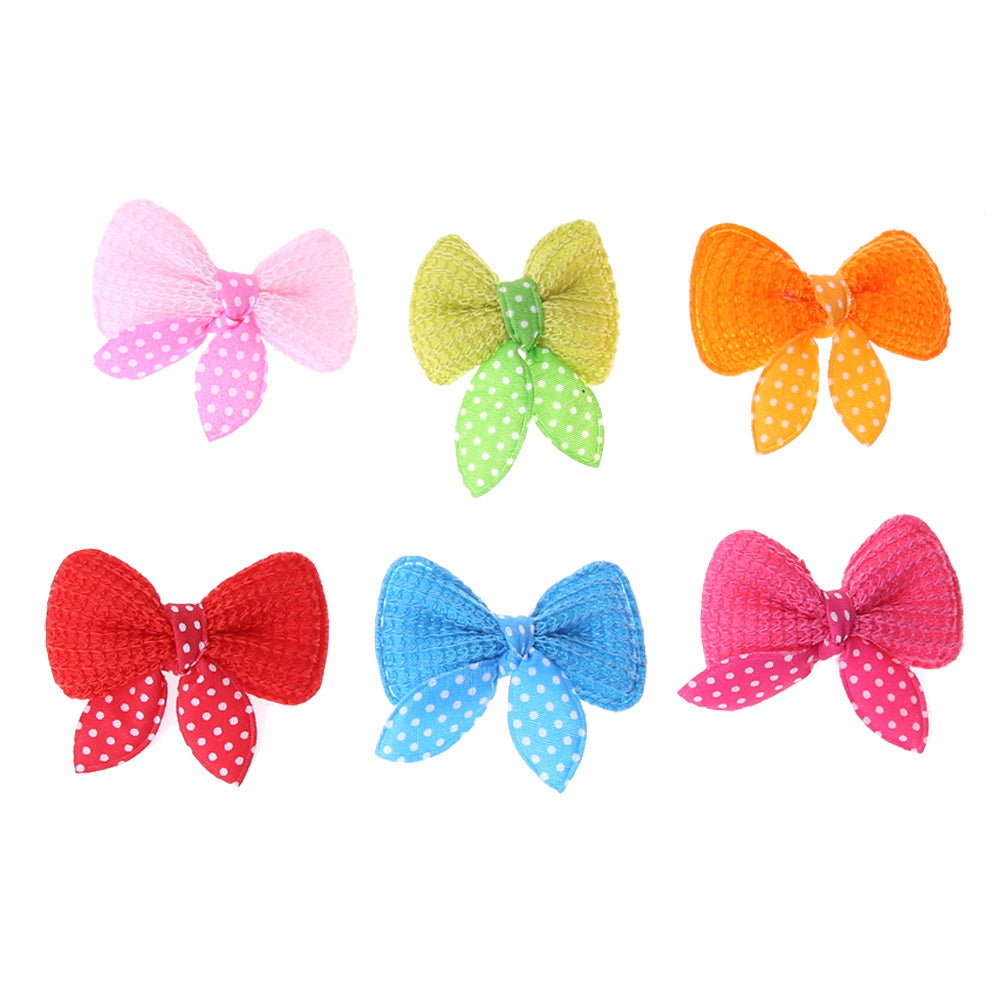 10pcs/set Pet Dog Cat Hairpins Cute Pets Dogs Cats Beauty Supplies Bows Hairpin Pet Hair Clip Headdress Dog Supplies  E5M1