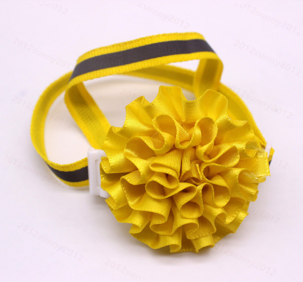 120pcs wholesale Pet Puppy Dog Cat Bow Ties Adjustable Reflective Band Flower Ball Dog Accessories Dog Bowties Pet Supplies