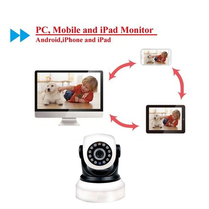 16GB Card+Ip wifi P2P wireless Camera  securiy camera Home Security Indoor Phone HD Real-time View 720P baby/pet monitor