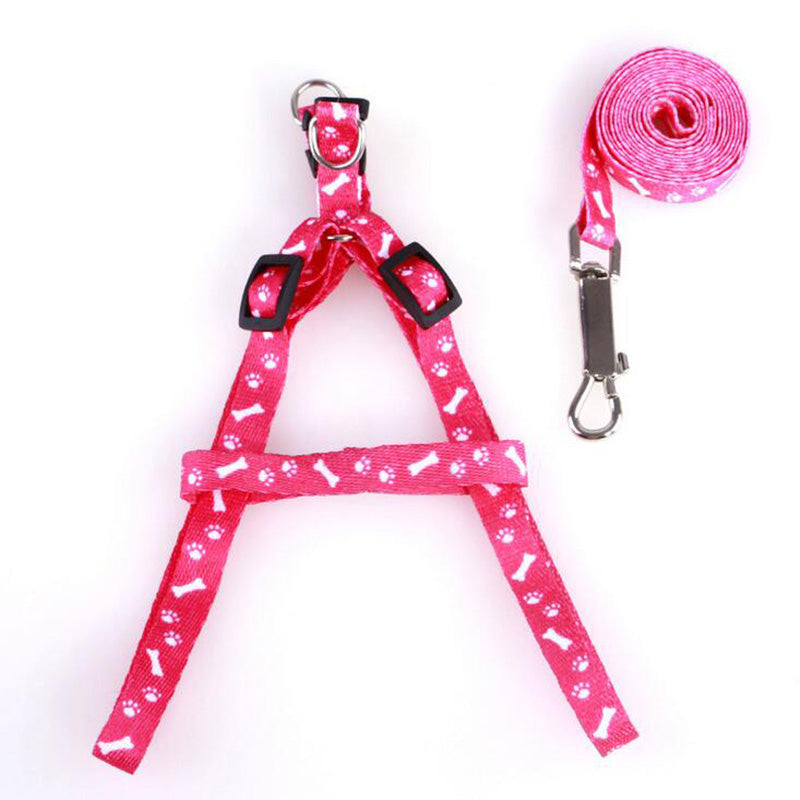 1Pc Pet Product Small Dog Puppy Cat Rabbit Kitten Nylon Harness Collar Leash Lead Adjustable Leash Pet Supplies 8zcx-cx377