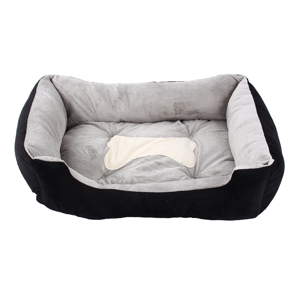1Pcs Large Luxury Dog House Beds/Mats Large Dog  Puppy Bed Kennel Mat Soft Fleece Pet Cat House Plush Cozy Nest Dog House Pad