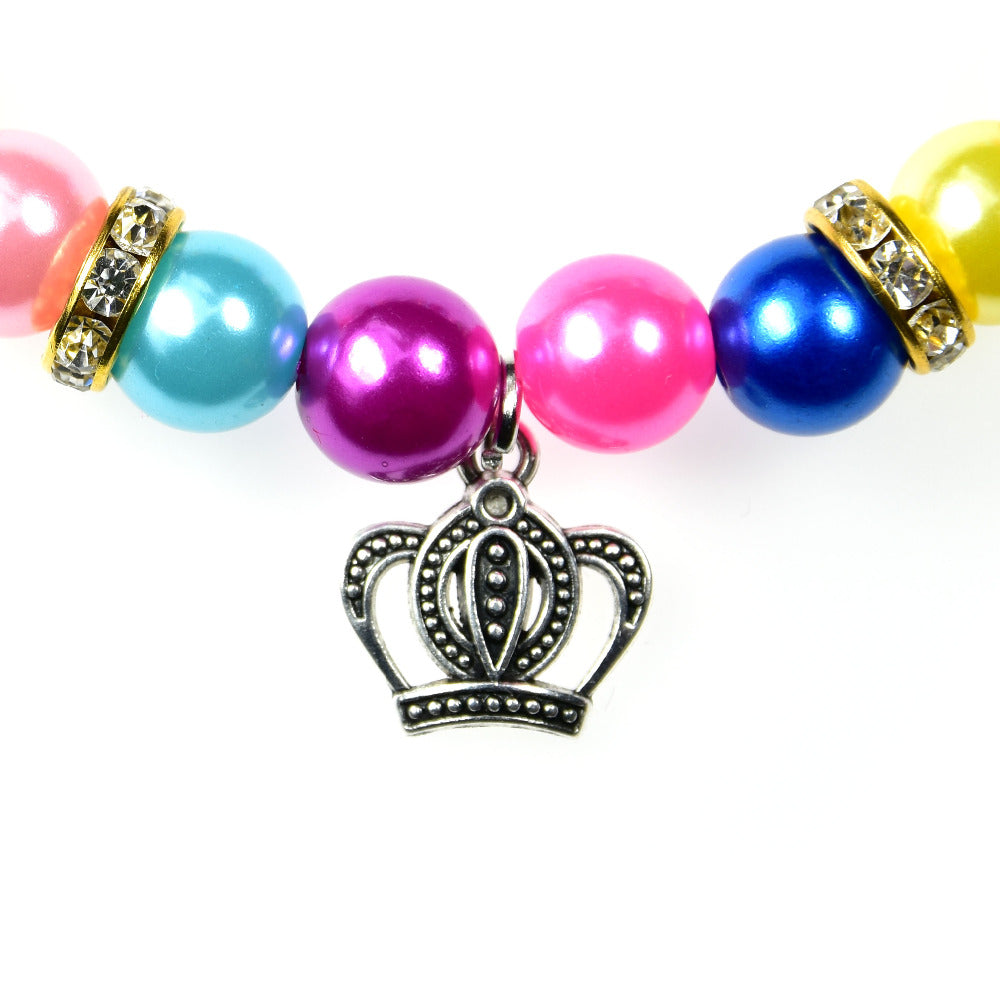 1pc Pet Cat Dog Necklace Puppy Collar Pearl Crown neckalce Diamond Love accessories Pet Shop Dog Grooming accessories